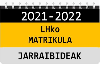 2021-2022 LHko Matrikula - Izapideak